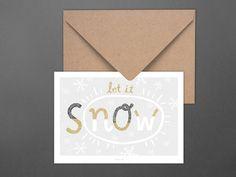 Weihnachten - Weihnachtskarte / sNow - ein Designerstück von typealive bei…