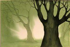 """Greenwood"" watercolor, 15""x 22"", V. Claff, 2013"