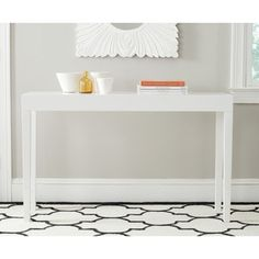 Shop for Safavieh Kayson White Lacquer Console Table. Get free shipping at Overstock.com - Your Online Furniture Outlet Store! Get 5% in rewards with Club O!