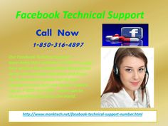 Will Facebook Technical Support 1-850-316-4897 team solve my issues?Take a gander on the reasons which will help you to approach our Facebook Technical Support team:  ·         Elimination of Facebook issues is so easy.  ·         Get the top-notch services.  ·         Facebook experience will be boosted.  So, place a call at our number 1-850-316-4897. For more information visit: http://www.monktech.net/facebook-technical-support-number.html