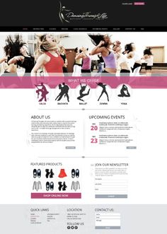 Free HTML5 Template for Dance Studio. Turn Your Passion into a ...
