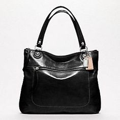 POPPY LEATHER GLAM TOTE    On my Coach want list!