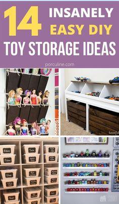 Organization For Kids Toys, Storage For Kids Toys, Toy Room Storage, Organizing Toys, Kids Bedroom Organization, Organisation Ideas, Organizing Ideas, Storage Organization, Storage Hacks