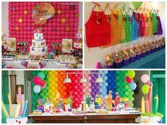 ideias para decorar festa  pintando o sete