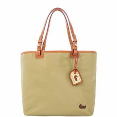 If not the Coach leather, this looks nice, something not so heavy.  Dooney & Bourke.   Nylon Lee Tote