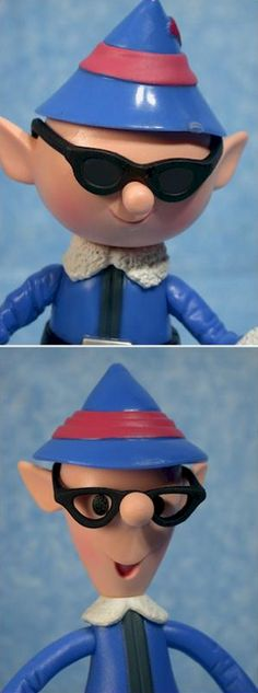 The Tall Elf and the Boy Elf from the Island of Misfit Toys in Rudolph the Red Nose Reindeer 1964 movie