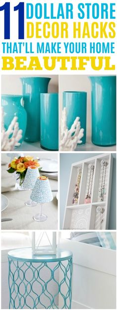 11 Dollar store decor hacks that'll make your home beautiful. 11 Dollar store decor hacks that'll make your home beautiful. Diy Home Decor For Apartments, Diy Home Decor Projects, Easy Home Decor, Diy Projects To Try, Cheap Home Decor, Decor Ideas, Craft Ideas, Dollar Store Hacks, Dollar Store Crafts
