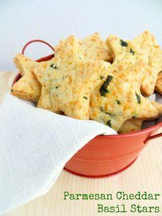 Parmesan Cheddar Basil Stars