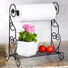 Publishers Clearing House Paper  Towel Holder w/shelf