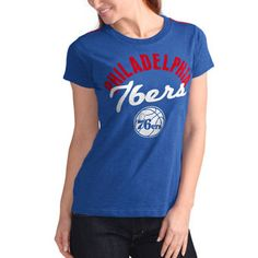 Philadelphia 76ers G-III 4Her by Carl Banks Women s Tailgate T-Shirt – Royal 01cdce0db