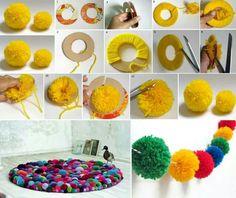 How to make a pompon rug