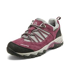 Clorts Womens Suede Leather Waterproof Hiking Shoe Outdoor Backpacking Trekking Shoes Purple HKL831D US9 *** Check out this great product.(This is an Amazon affiliate link)