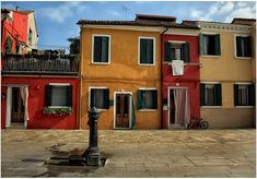 Colorful Cottages on the Island of Burano (by Alexander Strahilov;)