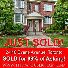 2 - 116 Evans Avenue, Toronto ~  SOLD