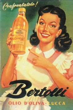 Dying for Chocolate: Triple Chocolate Olive Oil Brownies for Chanukah Vintage Italian Posters, Pub Vintage, Vintage Advertising Posters, Old Advertisements, Vintage Italy, Vintage Labels, Vintage Food, Poster Retro, Poster Ads