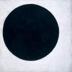 """sublimotion-blog: """" Malevich, Kazimir - Plane in Rotation, called Black Circle, 1915 oil on canvas 31 ½ x 31 ½ inches Private Collection, Courtesy…"""