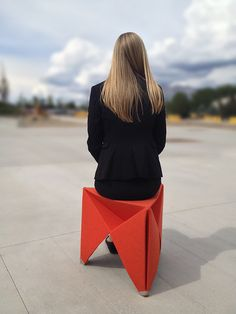 Felt Folding Stool by Brett Mellor and David Morgan, Wasatch Design Collective
