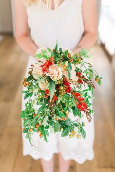 The prettiest fall bridal bouquet DIY