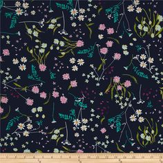 Art Gallery Lavish Blossom Swale Depth from @fabricdotcom  Get inspired by these beautiful colors and floral inspired patterns that will be sure to delight the eye. Designed by Katarina Roccella for Art Gallery Fabrics, this cotton print is perfect for quilting, apparel and home decor accents. Art Gallery Fabric features 200 thread count of finely woven cotton. Colors include navy, magenta, aqua, pink, green, yellow and white.