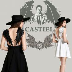 Angel wing back dress