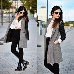 Persunmall Coat, American Apparel Jeans, Dr. Martens Boots