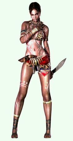 Resident Evil It's Raining Men Resident Evil Video Game, Resident Evil Game, Video Game Characters, Female Characters, Tribal Costume, Evil Art, Jill Valentine, Game Character Design, Cosplay