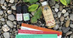 Recette de massage tonifiant aux huiles essentielles de Menthe Poivrée et d'Epinette Noire