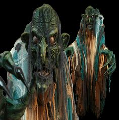 gore galore swamp hag giant costume professional haunted house halloween. portable audio option can be added w scream cube