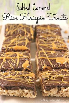 Take your typical kid friendly, no bake, treat recipe and kick it up a notch with these Dark Chocolate and Salted Caramel Rice Krispie Treats!