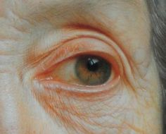 Portrait of an Old Woman with a Green Scarf,( detail) by Christian Seybold (1695–1768).