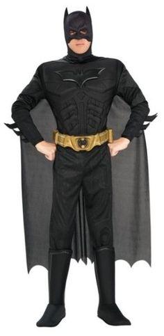 Naamiaisasu; Batman Dark Knight Deluxe  Batman Dark Knight elokuvan lisensoitu asukokonaisuus. Todellinen yön ritari muskelirintapanssareineen. #naamiaismaailma