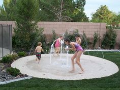 I would love love love to have a splash pad in my back yard. Way better than a pool.