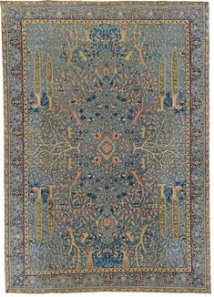 Hand woven wool rug with garden design from our exclusive Indian rugs collection.We are Doris Leslie Blau! Established since World's most recognizable brand for the vintage, Persian, oriental and antique rugs and makers of the finest custom carpets.