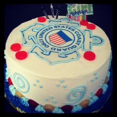 Coast guard birthday cake.
