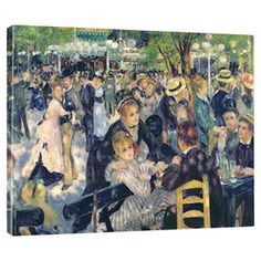 Lend a gallery-worthy touch to your living room or master suite with this striking canvas print of Pierre August Renoir's Ball at the Moulin de la Galette, 1876.   Product: Canvas printConstruction Material: Canvas and woodFeatures:  Gallery-wrappedReproduction of work by artist Pierre Auguste Renoir