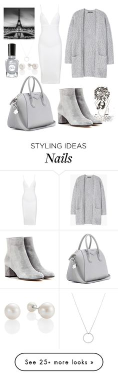 """""""Grey #2"""" by ellakatykat on Polyvore featuring MANGO, Gianvito Rossi, Givenchy, Sally Hansen and Roberto Coin"""