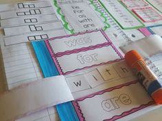 sight word interactive notebook with the first 100 fry words