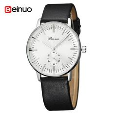 Fashion Luxury Brand Men Business Watch Male Quartz Leather Strap Watch With Small Dial Men Watches Reloj Hombre
