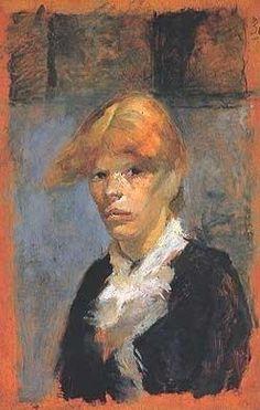 """By Henri de Toulouse-Lautrec (1864-1901), 1885, """"Carmen la Rousse"""", Oil on wood, 23 x 15 cm, musée Toulouse-Lautrec."""