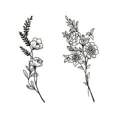 Tatto Ideas 2017 Really liking these flowers