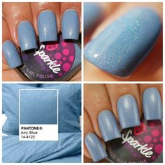 Airy Blue~Fall 2016 Indie Nail Polish Light Grey Blue Holo 10ML