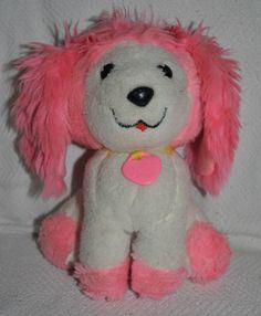 """8"""" Vintage Mattel Poochie Dog Plush 1982 Pink White Collar Stuffed Animal #Mattel"""