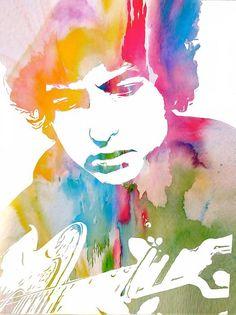 Bob Dylan Watercolor