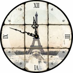 Attempting Aloha: Girls' Room - Project 3 - Shabby Chic Parisian Clock (AND Freebie!)