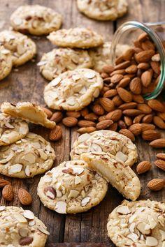 Soft Almond Sugar Cookies Stuffed with Marzipan