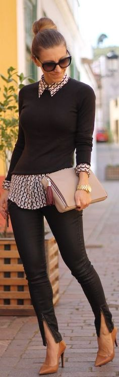 Like the sweater and the shirt. Not so sure I can wear skinny pants but I will… #*fashion~accessories