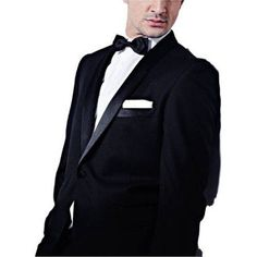 Men's Black Slim Fit Two Piece Notch Collar Tuxedo With Ribbon Finish, Size: 38S