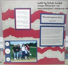 washington DC scrapbook page ideas. Like the background.