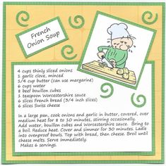 Recipe for French Onion Soup by SybilMcC - Cards and Paper Crafts at Splitcoaststampers