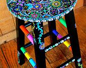 This gal loves color like I do... Yummy stool...